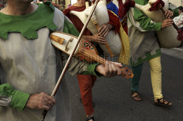 The festival medieval of Mazeres  departement Ariege