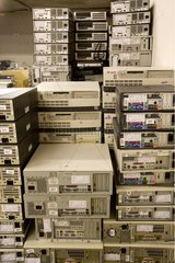 Stock of computer equipment recycled and sent to export