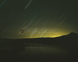 Raising of Orion constellation on lake La Toba Castille