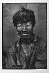 Portrait of a minor during his break Vietnam