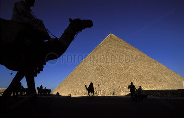 Cairo  Giza  the pyramid of Cheops
