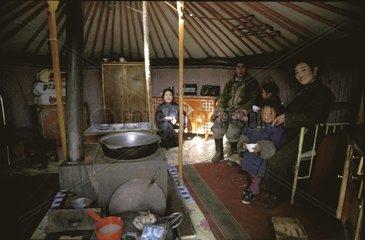 Severe winter in Mongolia