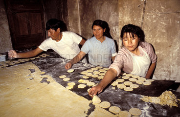 Peru  A family at work in the bakery.