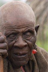 Old Man ndorobo suffering from cataract Tanzania