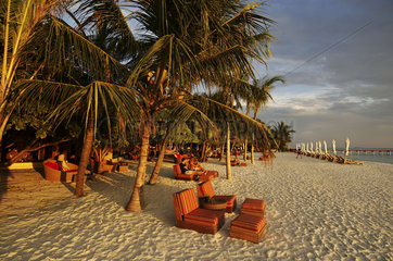 Maldives  beach chairs of the one and only Kanuhura resort