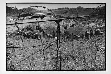 Men working in a coal mine opencast Vietam