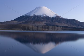 Volcano Parinacota reflected in Lago Chungara Patagonia