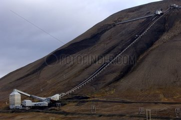 Coal mine in activity Spitzberg