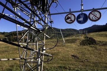 The summer view of ski resort les Monts dOlmes  Pic du Han  departement Ariege  Montagne de Tabe