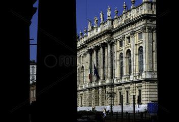 Turin  the Palazzo Madama at the Piazza Castello