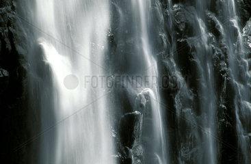 a waterfall on mount Kenya
