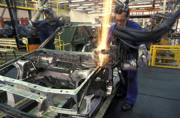Sao Paulo  Brazil. Workers at automobile industry. Employment  labor  car factory  welding.