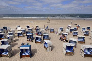 Sylt  beach chairs at Westerland beach