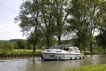 River tourism on the Bourgogne Canal Bourgogne France