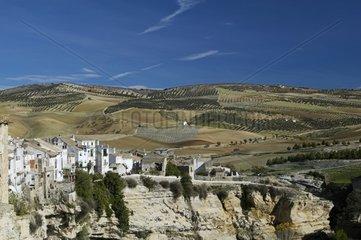Landscape in Alhama de Granada Andalucia Spain