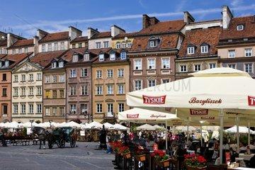 Historic Downtown Warsaw Poland