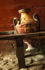 Palma de Mallorca ancient pottery in the convent