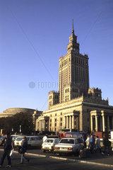 New Eastern Europe Warsaw Poland Museum Techniki with traffic
