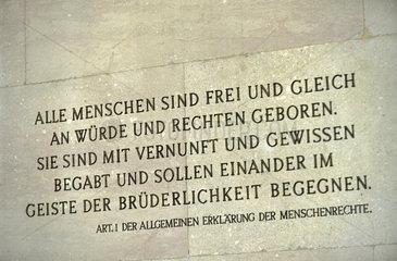 University of Vienna  first amendment of human rights