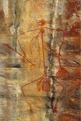 Aboriginal rupestral painting of a warrior Australia