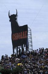 The Osborne bull at the race circuit of Jerez de la Frontera