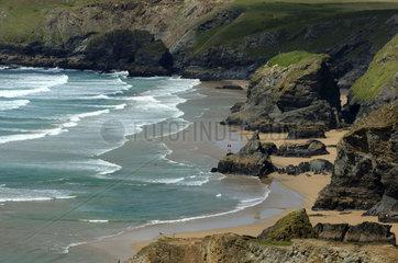 Cornwall  the Bedruthan Steps beach