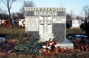 USA.Grave of Billie Holiday(1915-1959)in New York. St Raymonds; cemetery; Bronx; Singer;musician;