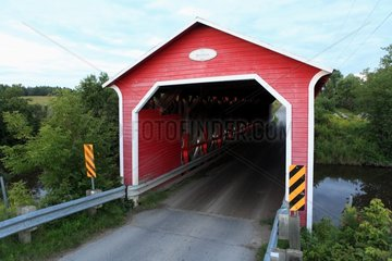 Bordeleau covered bridge in Saint-Severin in Mauricie Quebec