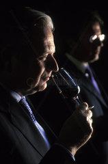 El Puerto de Santa Maria  Tomas and Ignacio Osborne are tasting Sherry in the Bodega