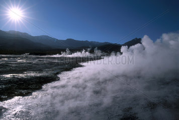 Geothermal Feature - Geiser - Atacama Desert  Chile  South America.