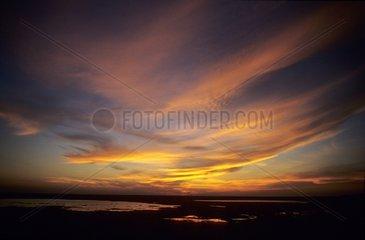 Sunset on Kakadu NP swamps Australia