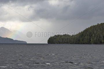 Mussel bay rainbow Swindle Island British Columbia