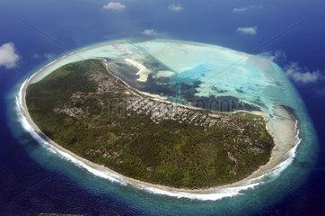 Maldives  atol where locals live
