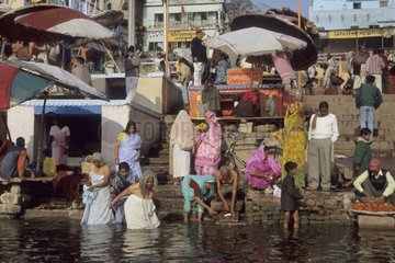 Vie quotidienne autour du Gange Inde