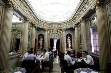 Turin  caffe San Carlo at Piazza San Carlos