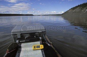 Kayak on Mackenzie river Canada