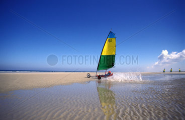 Terschelling sailing on the beach