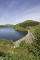 Dam Clywedog and its lake Powys Wales [AT]