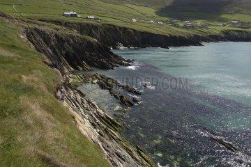 Rocky coasts of the Dingle peninsula Ireland