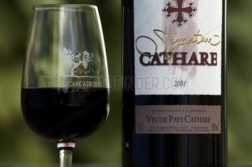 Carcassonne  Cathare wine from Domaine de Sautes
