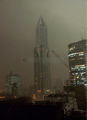 Thunderstorm on the city of Shanghai China