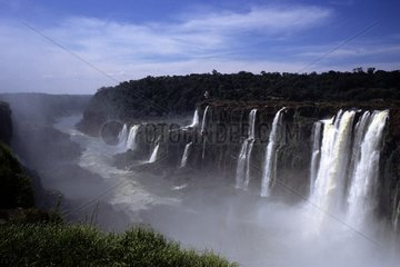 Waterfalls on the Iguacu River Parana Brazil