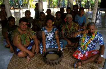 Samoa  an official kava ceremony