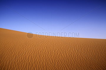 Sand dunes with ripples in sand in Death Valley California