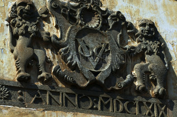 Galle Fort  Dutch VOC sign