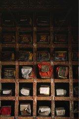 Livres de prières dans un monastère Ladakh Inde