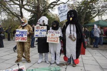 Campaigners in animal costumes London