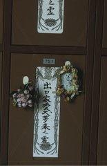 Funeral shelf paying homage to a animal Japan