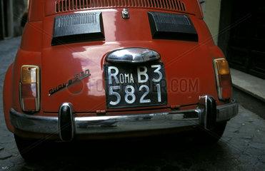 Rome  a fiat 500