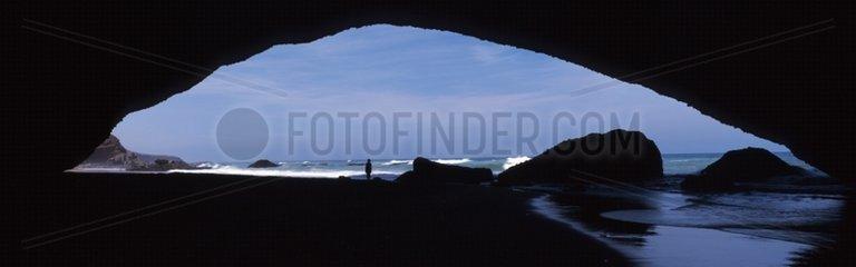 El Gsira Arch north of the town of Sidi Ifni Morocco